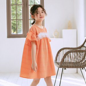 Image 2 - 2020 ילדים חדשים תחרה שמלת מותג בנות שמלת תינוק נסיכת שמלת ילדים קיץ שמלת כותנה אקארד חמוד פעוט בגדים, #5570