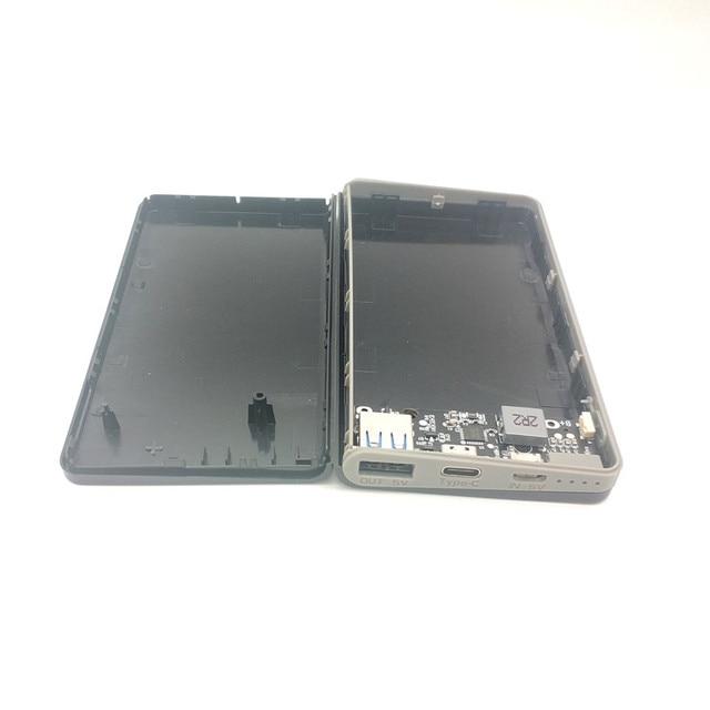 QC3.0 전원 은행 케이스 1usb pd 18w 배터리 빠른 충전기 상자 쉘 DIY 빠른 충전 휴대용 배터리 상자