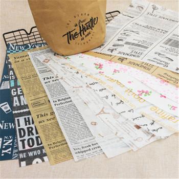 Papier pergaminowy w stylu gazetowym papier woskowany papier do pakowania żywności papier wypieki cukiernicze papier woskowany papier woskowany smar papier do pakowania tanie i dobre opinie YIBO CN (pochodzenie) Folia aluminiowa papier olejowy Jednorazowe Ekologiczne 9-12 Newspaper Style Parchment Wax Paper