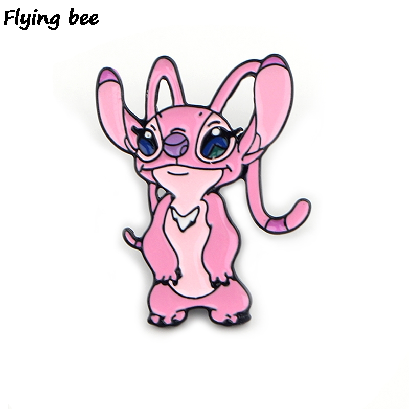 Flyingbee Cartoon Creative Cute Pins Brooch Jacket Pin Enamel Pins Badges Lapel Pin Brooches Badge For Friends Women Men X0429