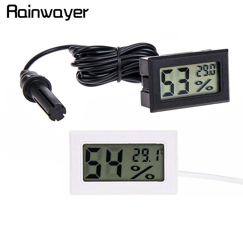 Цифровой термометр гигрометр мини LCD измеритель влажности Морозильник Холодильник термометр для 50 ~ 70 охладителей Охладители для аквариума|Приборы для измерения температуры|   | АлиЭкспресс