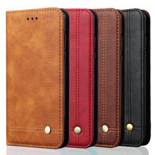 For Oppo Realme X2 Pro Case Luxury Leather Retro Stand Wallet Flip Cover Case For Realme X2 Magnetic Filp Phone Case