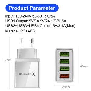 Image 2 - Cargador USB de carga rápida para móvil, cargador de pared rápido 3,0 para iPhone XR X 7 8 Huawei P20 Tablet QC 3,0, adaptador de enchufe europeo para Samsung A50 A30