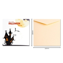 New 3D Popup Halloween Card Trick Or Treat Greeting Color Printing Pumpkin And Ghost Invitations  Envelope Included