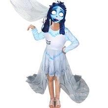 Костюм для маленьких девочек с призраком невесты черепом скелетом