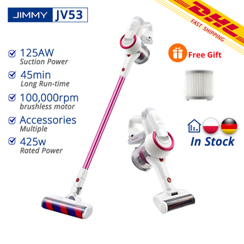 [Free Duty] JIMMY JV53 Handheld Wireless Vacuum Cleaner 125AW Home Portable 425W Powerful Suction Vacuum Collector