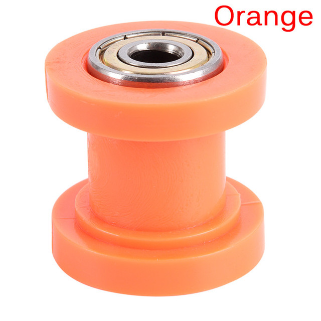 Sourcingmap 8mm Hole Chain Motorcycle Roller Pulley Slider Tensioner Yellow