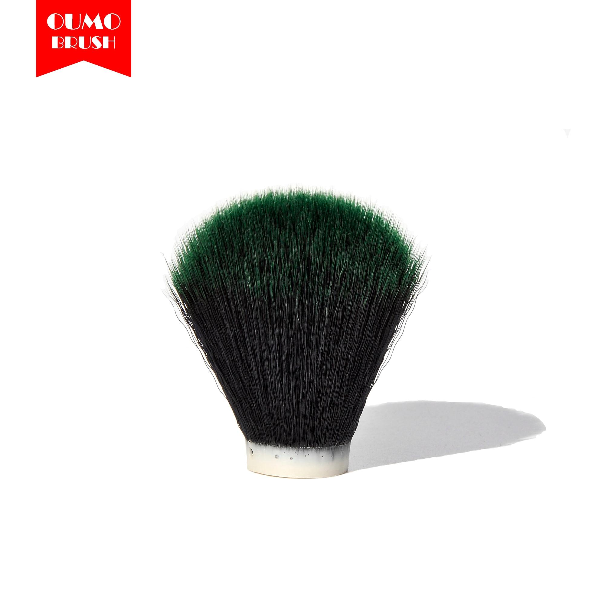 OUMO BRUSH- Tuexdo Green Tip Synthetic Hair Knots Shaving Brush Knots