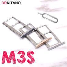 Para meizu m3s cartão sim bandeja titular micro sd tf slot para cartão adaptador para meizu m3s mini sim bandeja ouro/prata/cinza/rosa