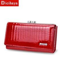 Mini portefeuille en cuir véritable pour femmes, petit loquet Alligator, portefeuille à fermeture éclair, pochette pour dames, nouvelle bourse de luxe 2019