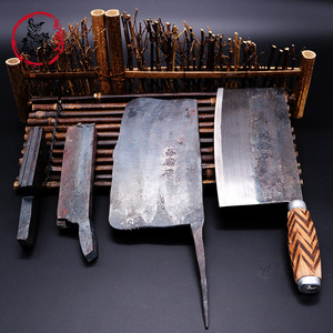 Image 4 - SHUOJI Handmade Chinese Kitchen Knives High Carbon Forged Kitchen Cleaver Wood Handle Slicing Knife Traditional Cooking Tools