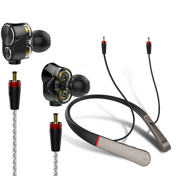 Wireless and wired Earphone Bluetooth Headphone Triple driver Audiophile Hi-Res Audio capable detachable connector Headphones