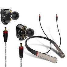 Wireless + wired Monitor Earphone Bluetooth Headphone Triple driver Hi-Res Audio