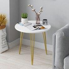 Светильник, роскошный журнальный столик, креативный круглый, стиль Ins, чайный столик, современный диван, столик для гостиной, мебель для дома, спальни