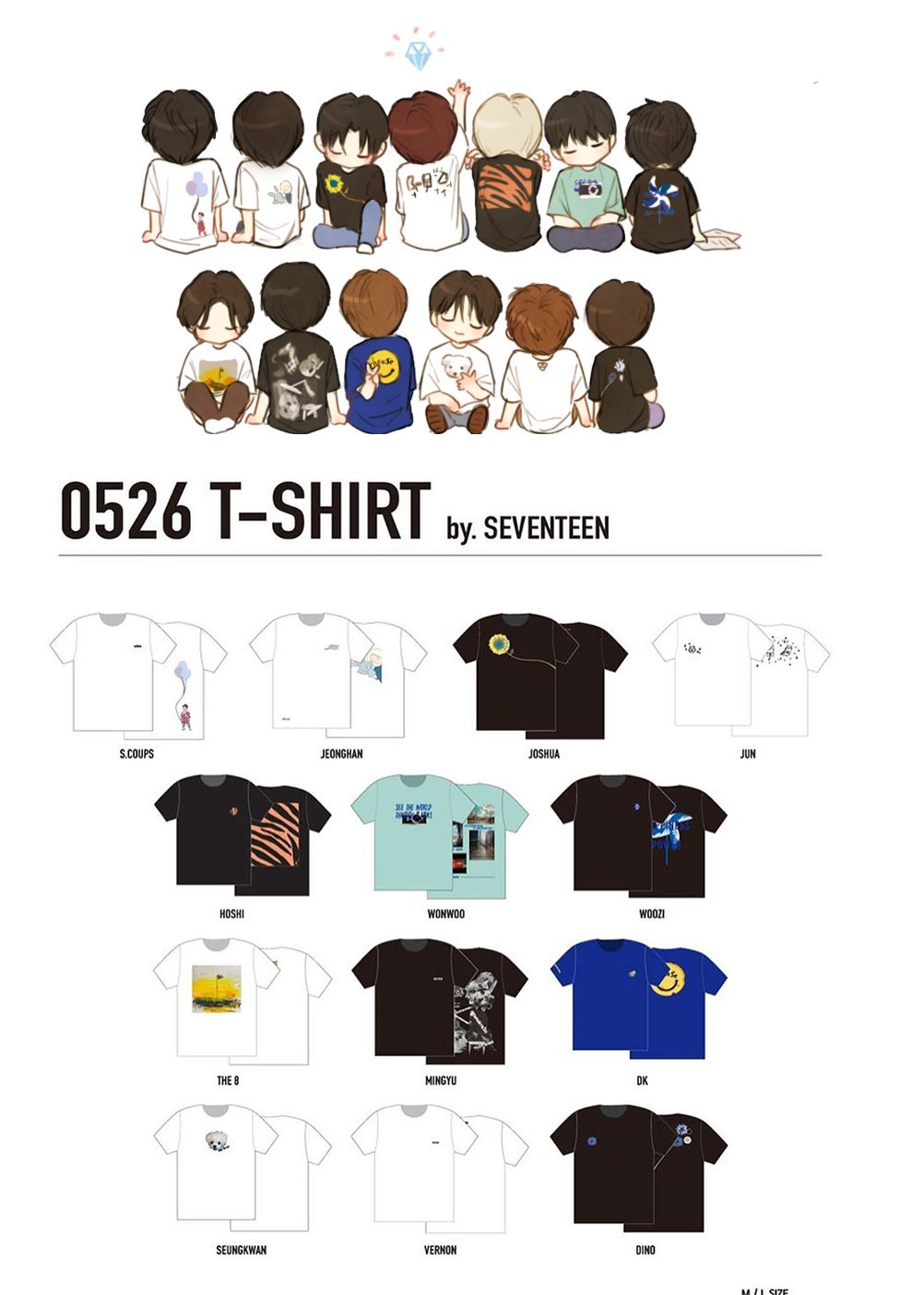 SEVENTEEN T-shirt 5th Year Anniversary 0526 Street Geometric 3D KPOP Neutral Hope Happiness Power Logo Summer Cool Tee