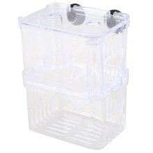 Прозрачная Пластиковая Изоляция инкубатора для разведения рыб в аквариуме