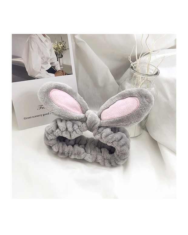 1Pcs Mode Frauen Mädchen Kaninchen Ohren Haarband Elastische Kopfschmuck Haar Zubehör Baumwolle Make-Up-Tools