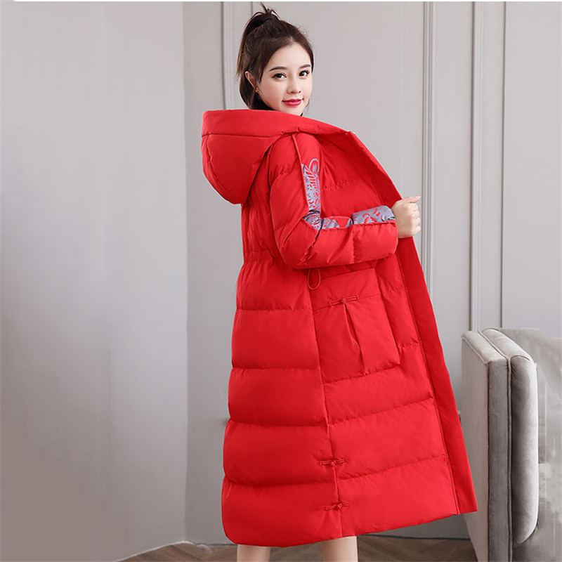 Retro Slim Down Cotton Women 2019 Autumn And Winter New Medium In Long Jacket Wild Casual Popular Hong Kong Style Cotton Coat568 - 6