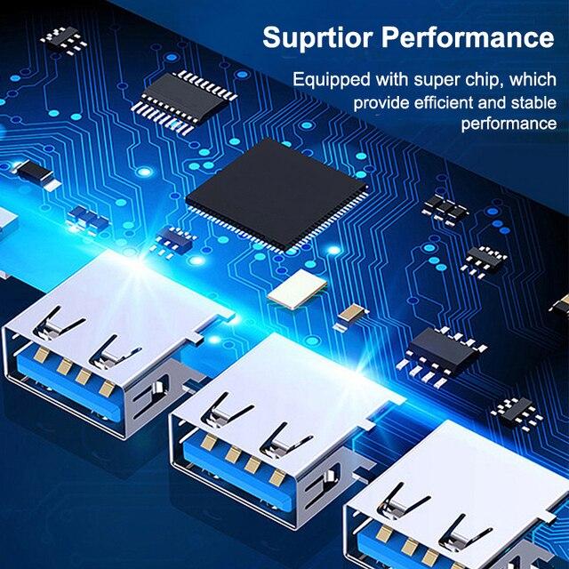 USB C HUB 3.0 Type C 3.1 4 Port Multi Splitter Adapter OTG For Lenovo Xiaomi Macbook Pro 13 15 Air Pro PC Computer Accessories 6
