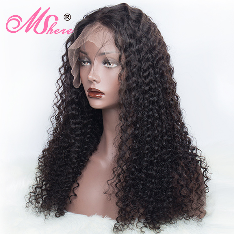 13x4 Lace Front Human Hair Wigs Deep Curly Wave Lace Front Wig For Black Women Pre Plucked Peruvian Remy Mshere 150% Lace Wigs