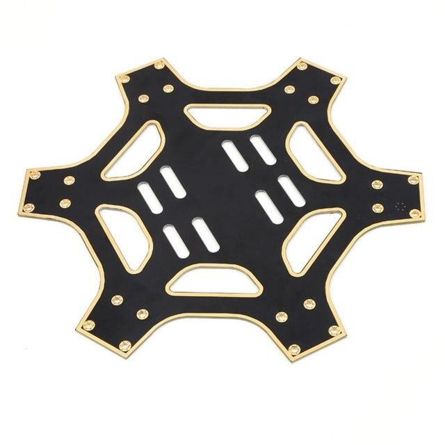 F550 superior y placa de fondo Central de aterrizaje brazo de placas w/tornillo