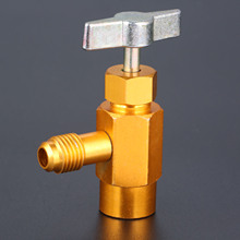 R 134A Refrigerant Can Opener Tap Dispensing Valve 1/2 ACME 1/2SAE Thread Brass Auto Car Air Conditioning Brass Tap For Mayitr