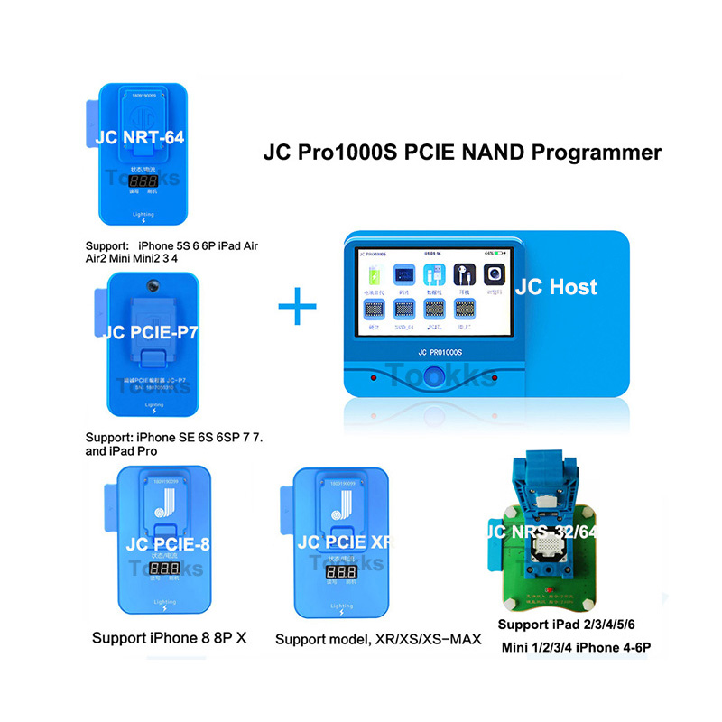 JC Pro1000S  P7 P8 PCIE NAND Programmer HDD Serial Read Write Error Repair Tool For IPhone 6/6S/6SP/7/7P/8/8P/X/XSMAX XR IPad