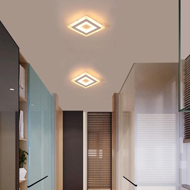 Monté Par Surface Moderne Led Plafonniers pour salon chambre Ultra-mince lamparas de techo Rectangle Plafond luminaires