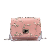 New Summer Jelly Bag Women Crossbody Bags for Chain Shoulder Small Square