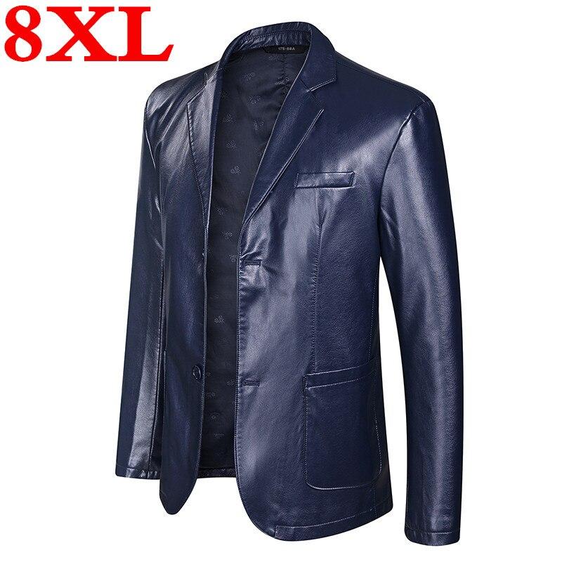 Grande grande taille 8XL 7XL 6XL nouveauté vestes en cuir hommes veste Outwear hommes manteaux printemps automne P U veste manteau