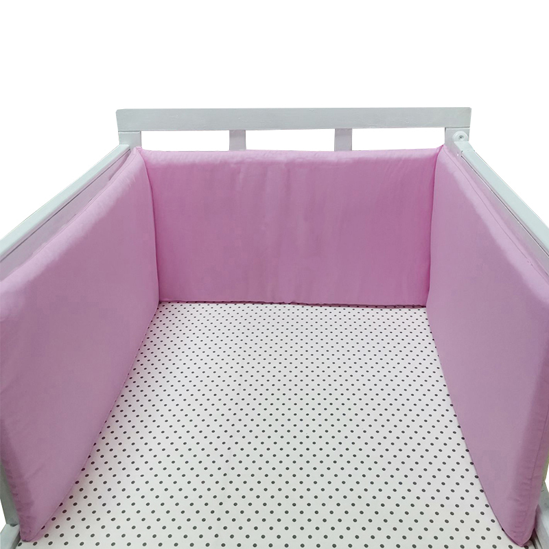 Nordic 200cm Baby Bed Bumpers For Newborns Thicken Crib Protector Cotton Infant Cot Around Cushion Room Decor For Boy Girl 1Pcs