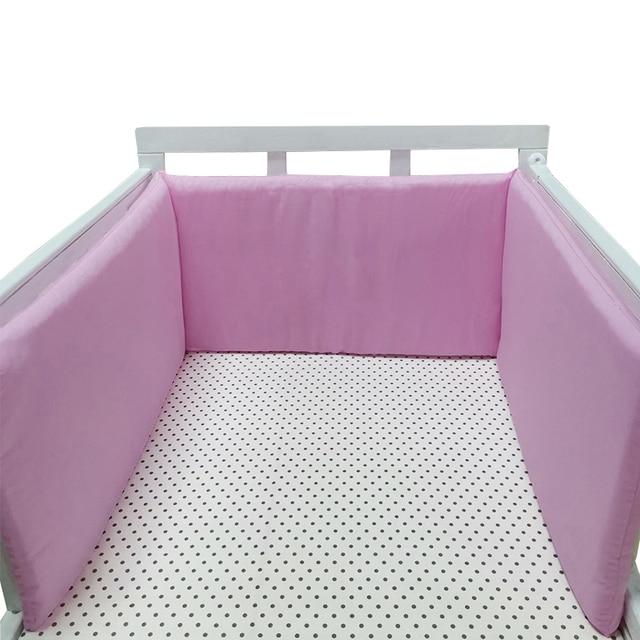 Pare-chocs de lit nordique pour bébé 200cm | Protecteur de lit de bébé épais pour nouveau-nés, coton bébé autour des coussins décor de chambre pour garçon et fille 1 pièces