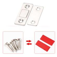 Myhomera 2 Stks/set Sterke Deurdranger Magnetische Deur Catch Klink Deur Magneet Meubels Kast Kast Schroef/Sticker Ultra Dunne