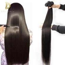 30 40 pouces longs os cheveux raides paquets de cheveux humains cheveux brésiliens armure faisceaux 1 3 4 paquets Extension de cheveux Remy naturel