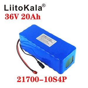 LiitoKala 21700 батарея 36В 15ач 20ач 25ач 30ач 500 Вт Батарея Электрический велосипед 36В литиевая батарея с ПВХ чехол 30А BMS
