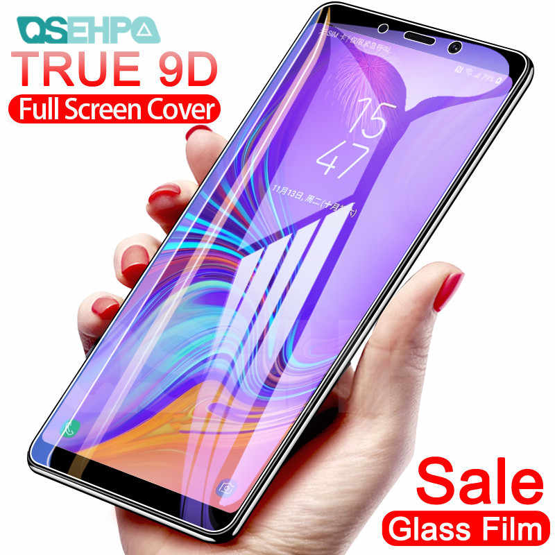 9D Protective Glass on the For Samsung A5 A7 A3 2016 2017 Tempered Glass For Samsung A6 A8 Plus A9 2018 Screen Protector Film
