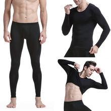 Сексуальное мужское термобелье пижама из ледяного шелка плотный