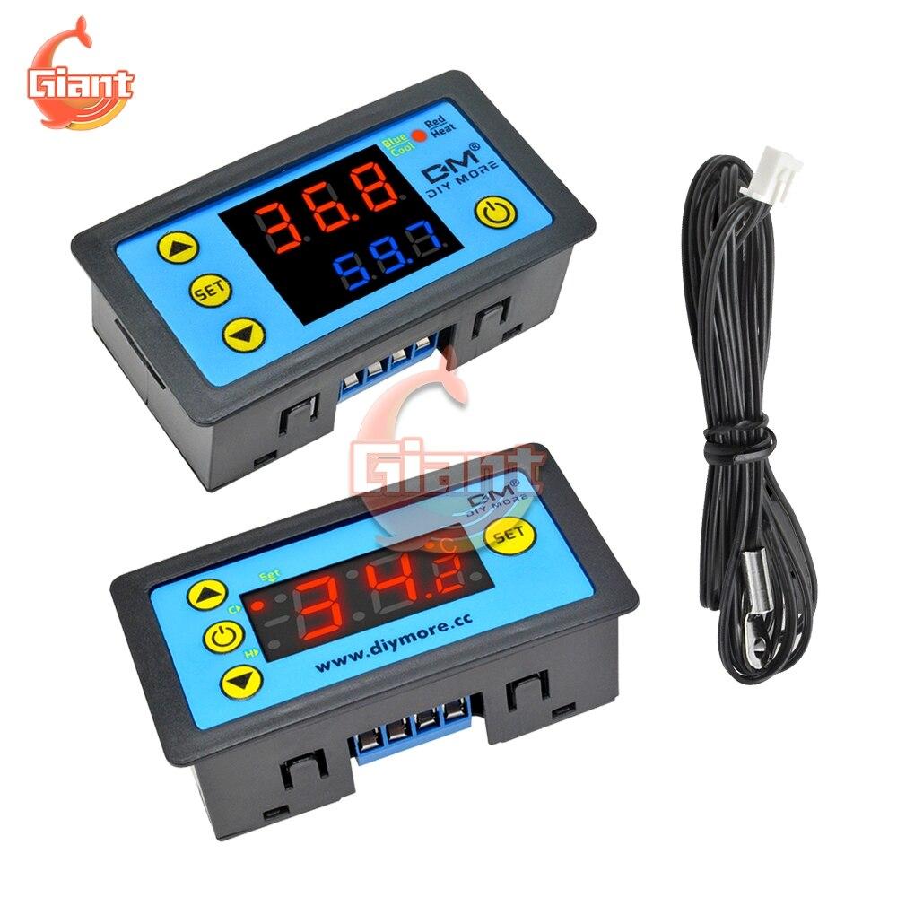 W3231 LED Single Dual Display Digital Thermostat DC 12V AC 110V 220V Temperature Controller For Aquarium Freezers Incubator Car