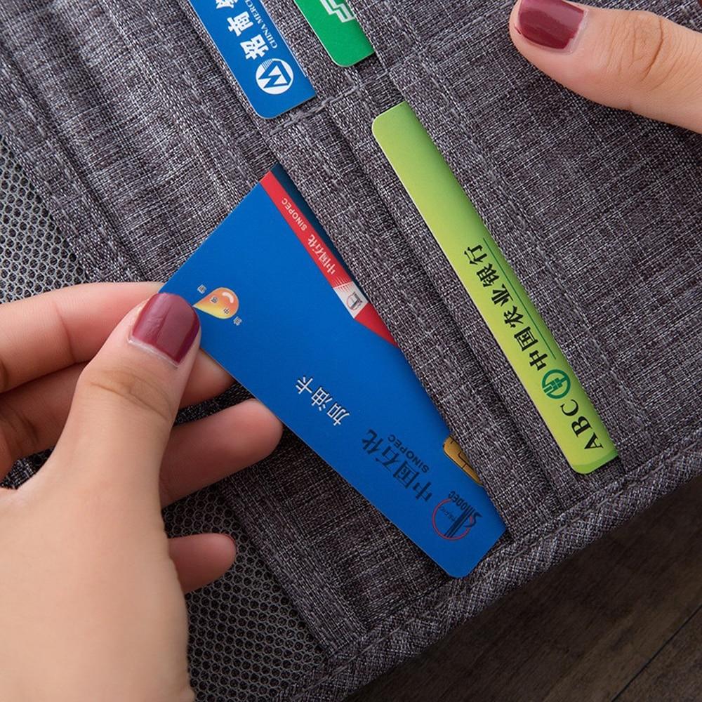 bolsa para cartões documentos ic titular do cartão dinheiro moeda bolsa