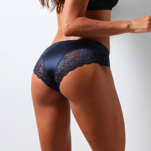 Brand Sexy Women Underwear High Quality Women Panties Seamless Solid Briefs low-Rise Lace side Lingerie