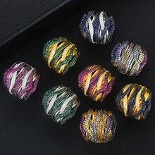 GODKI anillo apilable con diseño de Monaco para mujer, sortija de compromiso de circón cúbico de boda, estilo Punk, Dubái