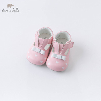 DB15978 Dave Bella autumn baby girls fashion cartoon bow love print first walkers new born girl cute shoes image