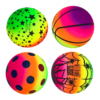 Rainbow Inflatable Ball Football Rubber Ball Play Early Education Indoor Outdoor Activity Game Soccers Pool Beach Playground