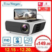 Touyinger L7 светодиодный нативный 1080P проектор 4500 люмен full HD мультимедийный проектор Видео Android 7,1 wifi AC3 Bluetooth Домашний кинотеатр HDMI