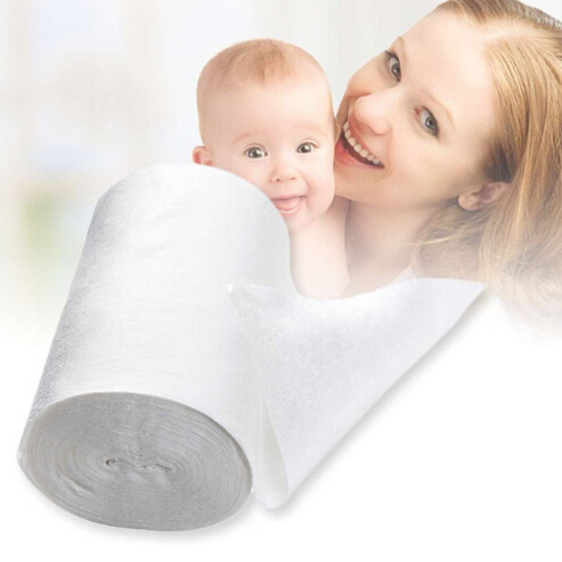 New Safety Baby Flushable Biodegradable Disposable Cloth Nappy Diaper Bamboo Liners 100 Sheets 1 Roll 18cmx30cm For Baby