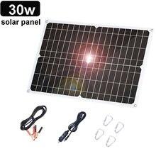 30 Вт солнечная панель гибкое зарядное устройство 12 В монокристаллическая