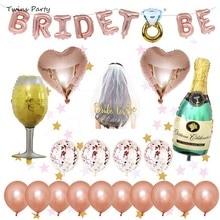 Twins Party Wedding Decorations Bridal Shower Rose Gold Veil Team Bride To Satin Sash Bachelorette Girl Hen