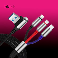3 in1 USB Cable de carga rápida USB tipo C cargador de Cable de carga de datos Micro USB Cable usb cable Cable de teléfono móvil Cable USB(China)