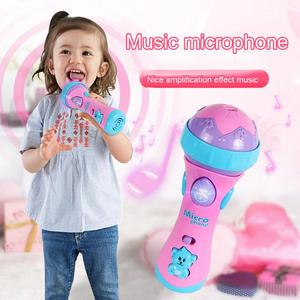 Juguetes musicales, micrófono para niños, juguetes musicales con iluminación colorida, micrófono divertido, regalo bonito, micrófono inalámbrico, juguetes musicales