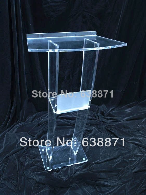 Free Shiping Modern Design Acrylic Lectern With Microphones